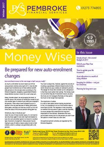 Pembroke Financial Services - Winter 2017 Newsletter